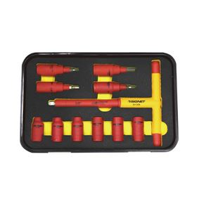 SIGNET(シグネット) E81611 11PCS 3/8DR 絶縁ソケットセット(T型、ヘックス)