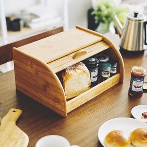 竹製ブレッドケース(パンケース/スパイスラック) 幅34cm×奥行26cm×高さ17cm 『La Cuisine ラ・クイジーヌ』 - 拡大画像