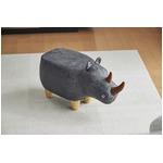 アニマルモチーフのスツール Rhino Jr.(リノジュニア) グレー