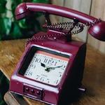 ヴィンテージモチーフクロック telephone(テレフォン) レッド