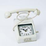ヴィンテージモチーフクロック telephone(テレフォン) ホワイト