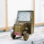 ヴィンテージモチーフクロック tractor(トラクター)ブラウン