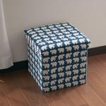 座ってしまえて畳める便利ボックス シロクマ