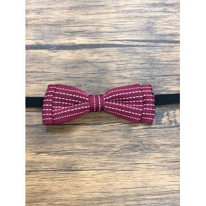 Pet bow tie(ペットボウウタイ) S ドットライン×レッド - 拡大画像