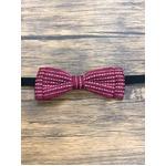 Pet bow tie(ペットボウウタイ) S ドットライン×レッド