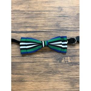 Pet bow tie(ペットボウウタイ) S ホワイト×グリーン - 拡大画像