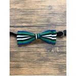 Pet bow tie(ペットボウウタイ) S ホワイト×グリーン