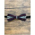 Pet bow tie(ペットボウウタイ) M ホワイト×ワインレッド