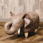アニマルモチーフのスツール Elephant(エレファント)ブラウン
