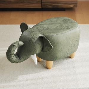 アニマルモチーフのスツール Elephant(エレファント)カーキ - 拡大画像