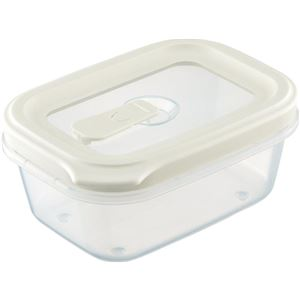 フードコンテナ/保存容器 【シールS ホワイト】 容量:約430ml 電子レンジ・食洗機対応可 『リベラリスタ』 - 拡大画像