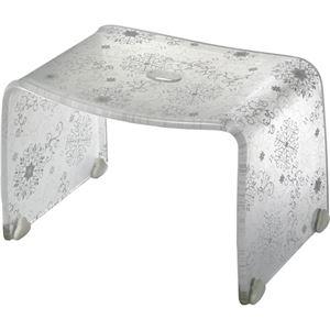 【4セット】 ロマンチック バスチェア/風呂椅子 【Sサイズ オフホワイト】 脚ゴム付き 『フィルロ シュシュ』 - 拡大画像