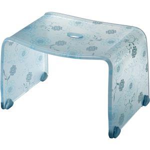 【4セット】 ロマンチック バスチェア/風呂椅子 【Sサイズ ペールブルー】 脚ゴム付き 『フィルロ シュシュ』 - 拡大画像