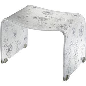【4セット】リス フィルロ シュシュ バスチェアーM オフホワイト かわいいバスチェア・風呂椅子