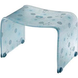 【4セット】 ロマンチック バスチェア/風呂椅子 【Mサイズ ペールブルー】 脚ゴム付き 『フィルロ シュシュ』 - 拡大画像