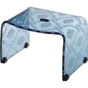 【4セット】リス ファッシーナ バスチェアーS クリアネイビー おしゃれなバスチェア・風呂椅子