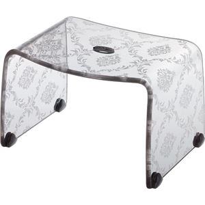 【4セット】リス ファッシーナ バスチェアーS クリアグレー おしゃれなバスチェア・風呂椅子