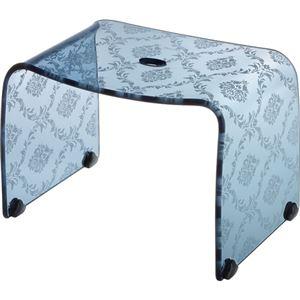 【4セット】リス ファッシーナ バスチェアーM クリアネイビー おしゃれなバスチェア・風呂椅子