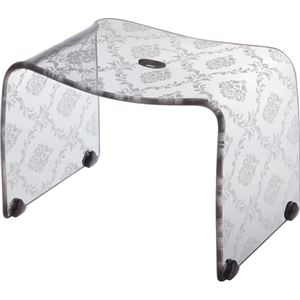 【4セット】リス ファッシーナ バスチェアーM クリアグレー おしゃれなバスチェア・風呂椅子