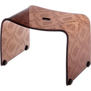 【4セット】リス ファッシーナ バスチェアーM クリアブラウン おしゃれなバスチェア・風呂椅子