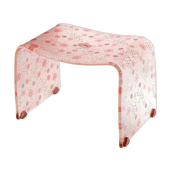 ロマンチック バスチェア/風呂椅子 【Mサイズ コーラルピンク】 脚ゴム付き 『フィルロ シュシュ』