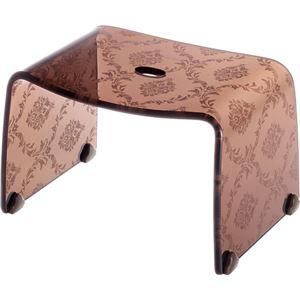リス ファッシーナ バスチェアーS クリアブラウン おしゃれなバスチェア・風呂椅子