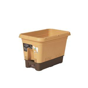 ベストコ 給水式プランター 500型(コロ付)モスイエロー - 拡大画像