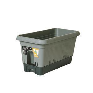 ベストコ 給水式プランター 650型(コロ付)モスグリーン - 拡大画像