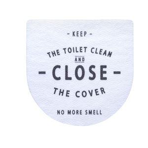ベストコ トイレのフタに貼る消臭シート ホワイト - 拡大画像