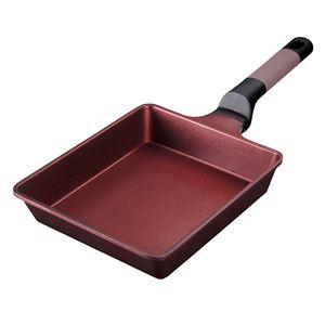 ベストコ ヴォランテ 冷凍餃子もきれいに焼けるグリルパン IH 17×22cm ブラウン - 拡大画像