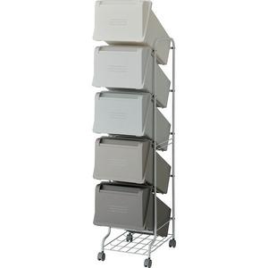 リス コンテナスタイル5 CS5-100 MX6 5段ゴミ箱 GCON160