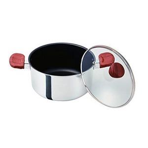 ベストコ 両手鍋 ミラー 20cm フィライト ND-5543 - 拡大画像