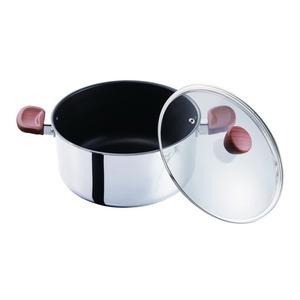 ベストコ 両手鍋 ミラー 24cm フィライト ND-5545 - 拡大画像