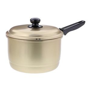 ベストコ しゅう酸ふるさと鍋 軽くて丈夫なアルミ兼用片手鍋 18cm ND-8975 - 拡大画像
