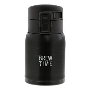 ベストコ ブリュー ワンタッチステンレスボトル 200ml ブラック ND-5121 - 拡大画像