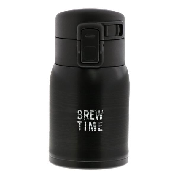 ベストコ ブリュー ワンタッチステンレスボトル 200ml ブラック ND-5121