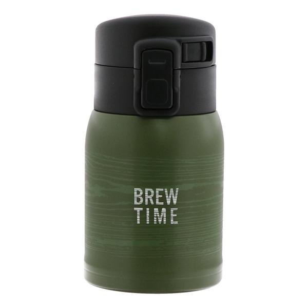 ベストコ ブリュー ワンタッチステンレスボトル 200ml カーキ ND-5123