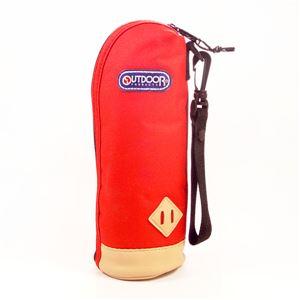 アウトドアプロダクツ ボトルカバー 水筒ケース レッド 500ml ペットボトル 水筒用【314-078】 - 拡大画像