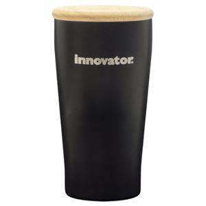 イノベーター ステンレス 真空二重 タンブラー&木蓋 ブラック 450ml 保温 保冷【540-302】 - 拡大画像