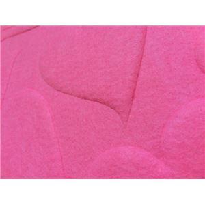 【単品】 3Dエンボス吸音パネル/防音フェルトボード 【ハート型/40×40cm ピンク】 簡単取り付け