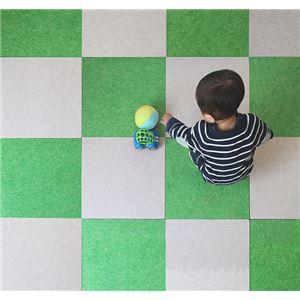 【単品】 スタンダード吸音パネル/防音フェルトボード400角 【床用/40×40cm 抹茶グリーン】 滑止め加工付き 簡単カット