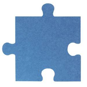 【単品】 パズル型吸音パネル/防音フェルトボード 【床用/40×40cm ブルー】 滑止め加工付き 簡単カット