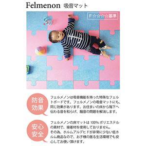 【単品】 パズル型吸音パネル/防音フェルトボード 【床用/40×40cm ピンク】 滑止め加工付き 簡単カット