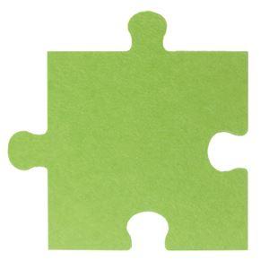【単品】 パズル型吸音パネル/防音フェルトボード 【床用/40×40cm グリーン】 滑止め加工付き 簡単カット