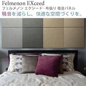 【単品】吸音パネル/防音フェルトボード 【40×40cm /ダークグレー】布貼りタイプ/45度カット Felmenon EXceed - 拡大画像