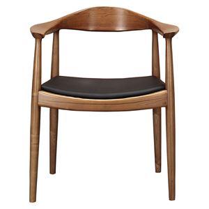 【リプロダクト品】 The Chair/デザイナーズチェア 【ブラウン】 肘付き スタッキング可 『ハンス・J・ウェグナー』 - 拡大画像