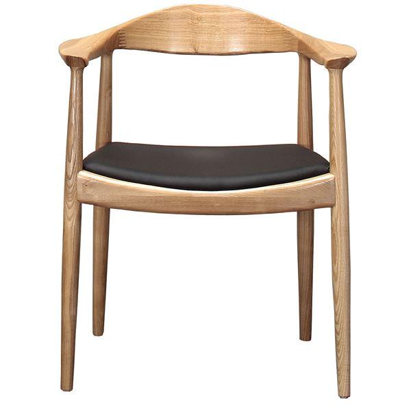 美しく掛け心地の良い木製椅子「【リプロダクト品】 The Chair/デザイナーズチェア 【ナチュラル】 肘付き」