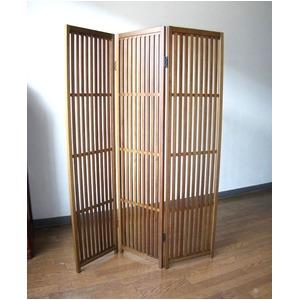 趣スクリーン 3曲 日本製 伝統工芸職人技術 木製 屏風 衝立 h01