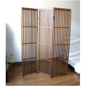 趣スクリーン 3曲 日本製 伝統工芸職人技術 木製 屏風 衝立 h02