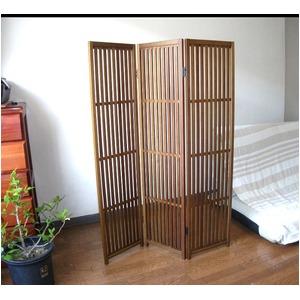 趣スクリーン 3曲 日本製 伝統工芸職人技術 木製 屏風 衝立 f04